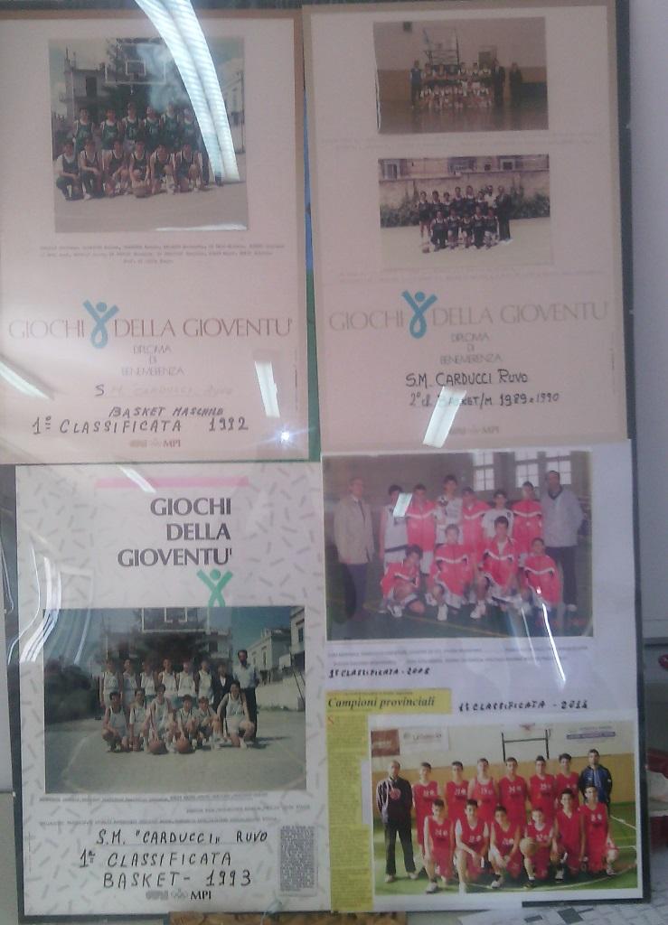 Diploma di attività sportive donati dal prof. Biagio Di Gioia