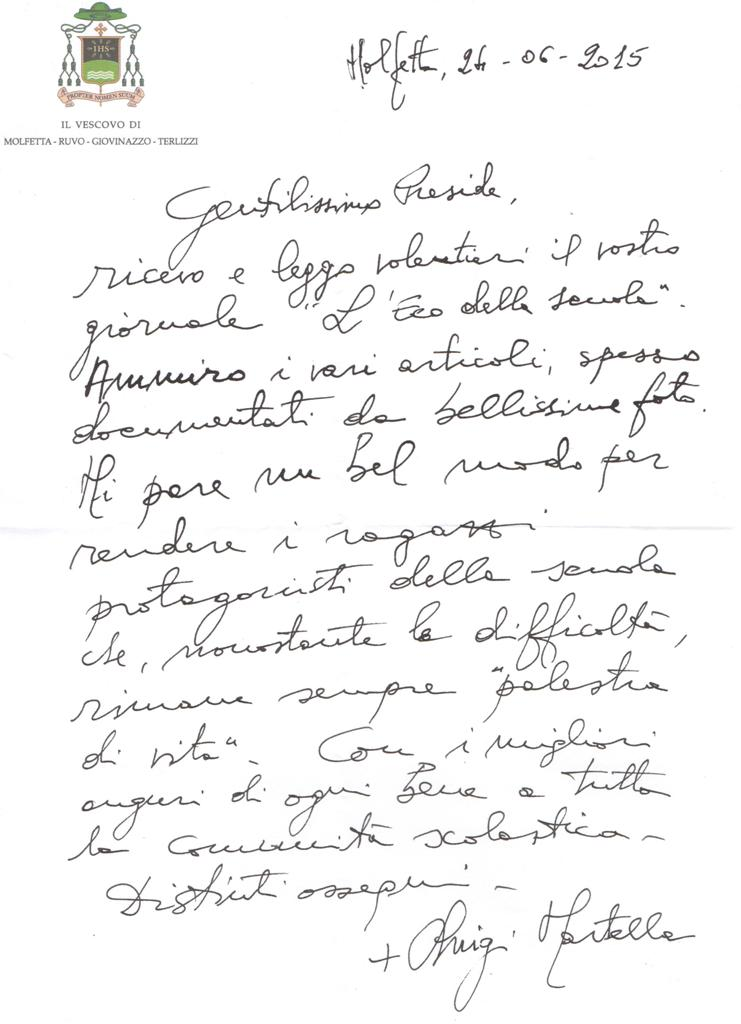 Lettera Vescovo Martella