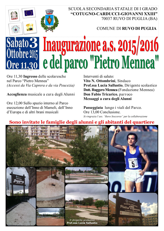 Inaugurazione Parco Mennea