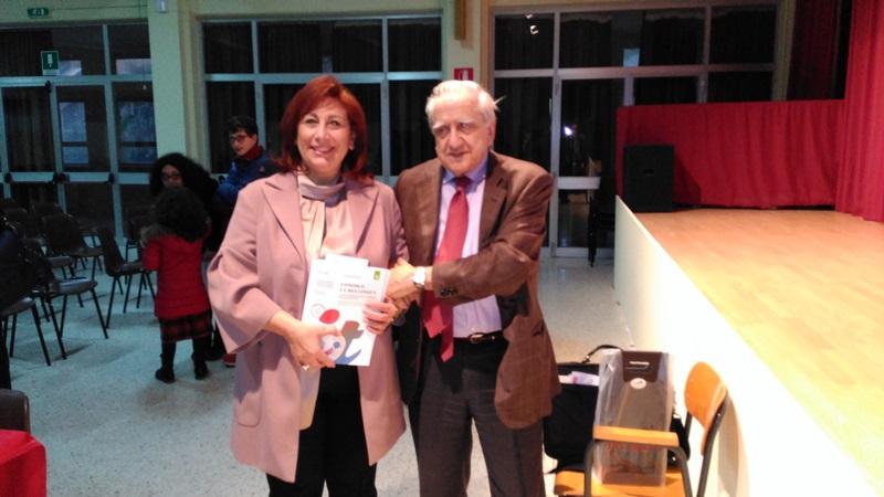 La DS Sallustio col prof. Sabatini