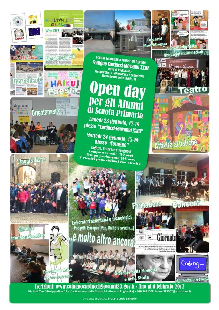 Open day per le Quinte primarie