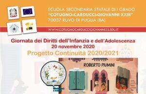 Locandina diritti infaznia, continuità, libriamoci 2020