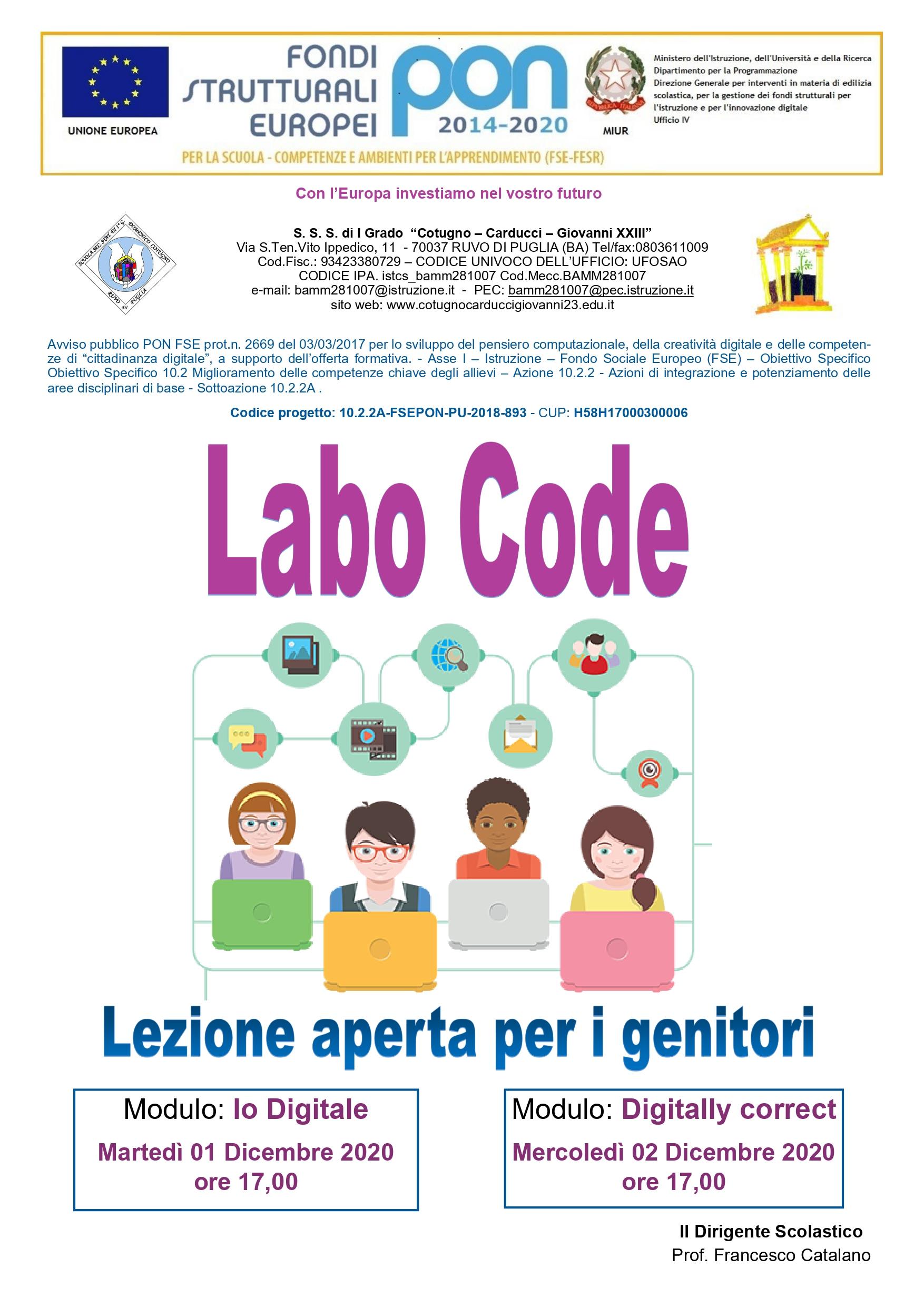 Labo code Digitally c