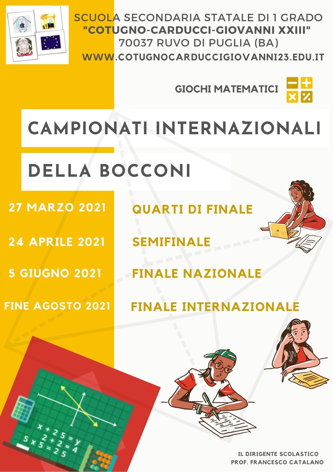 CampionatiMatematici Bocconi 2